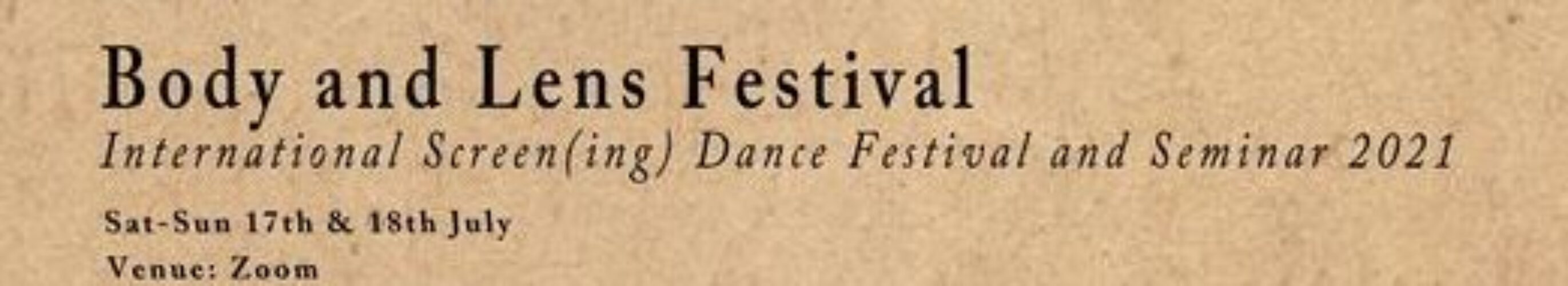Body and Lens Festival 2021